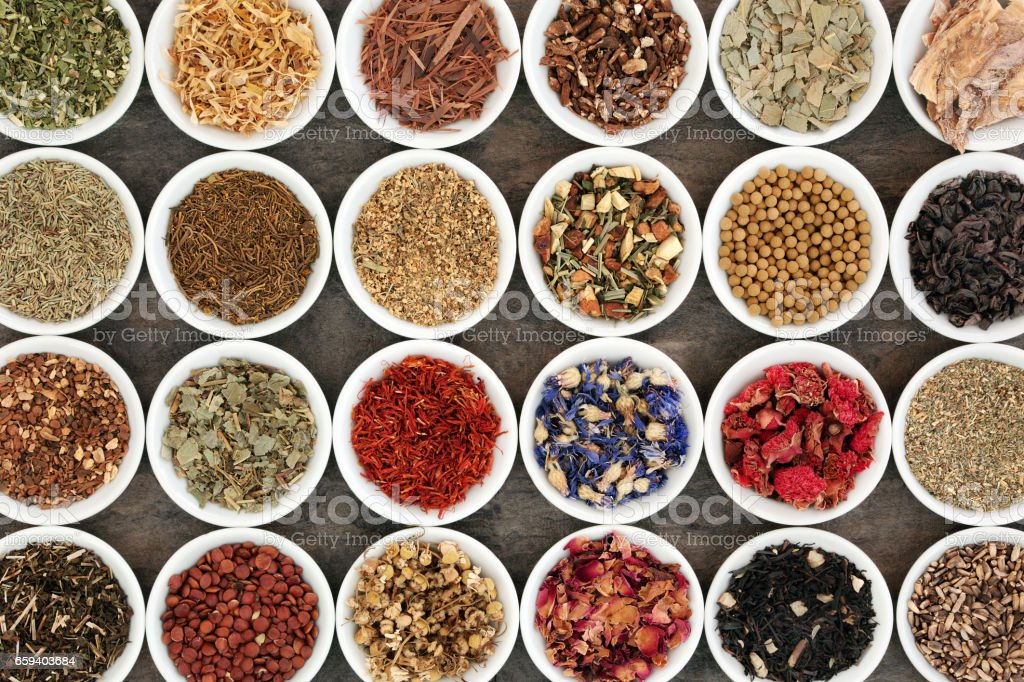 Herb Tea Selection stock photo