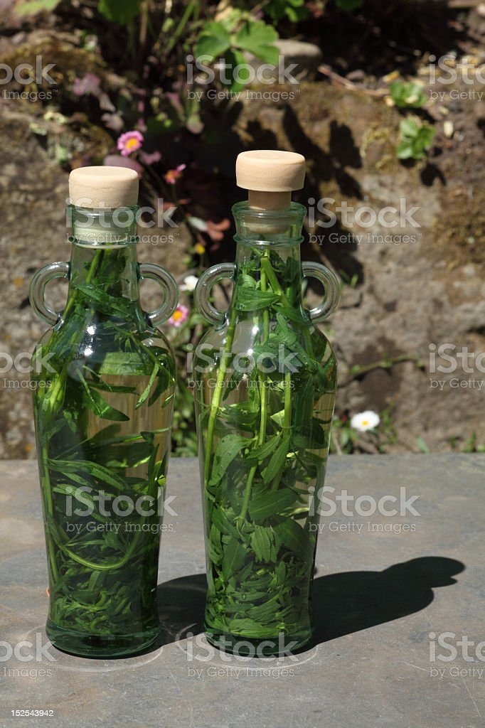 Herb vinegar royalty-free stock photo