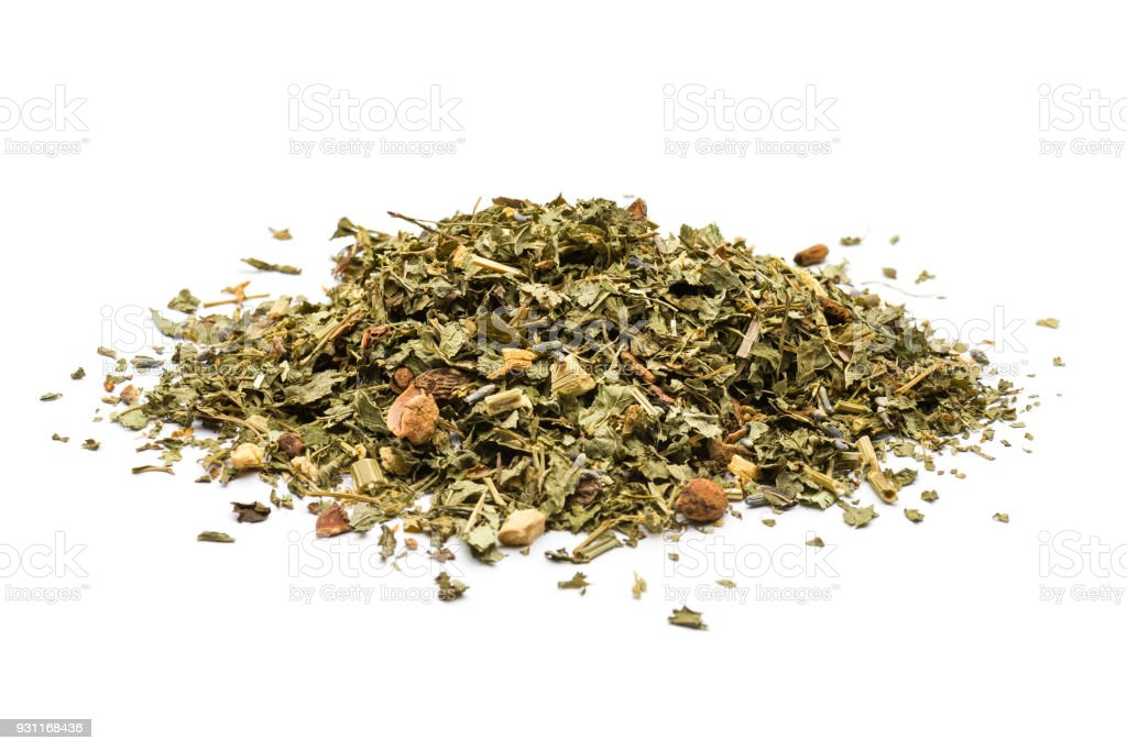 herbal blend for tea stock photo