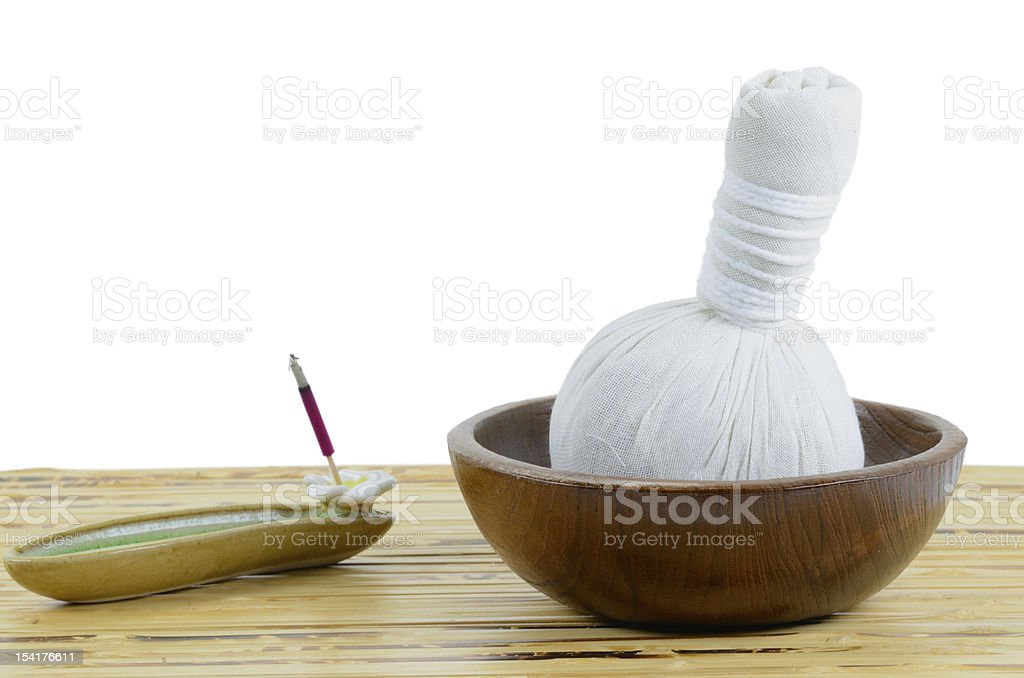 herbal compress ball royalty-free stock photo