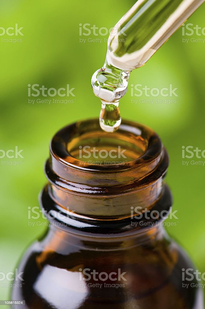 Herbal Essence Dropper stock photo