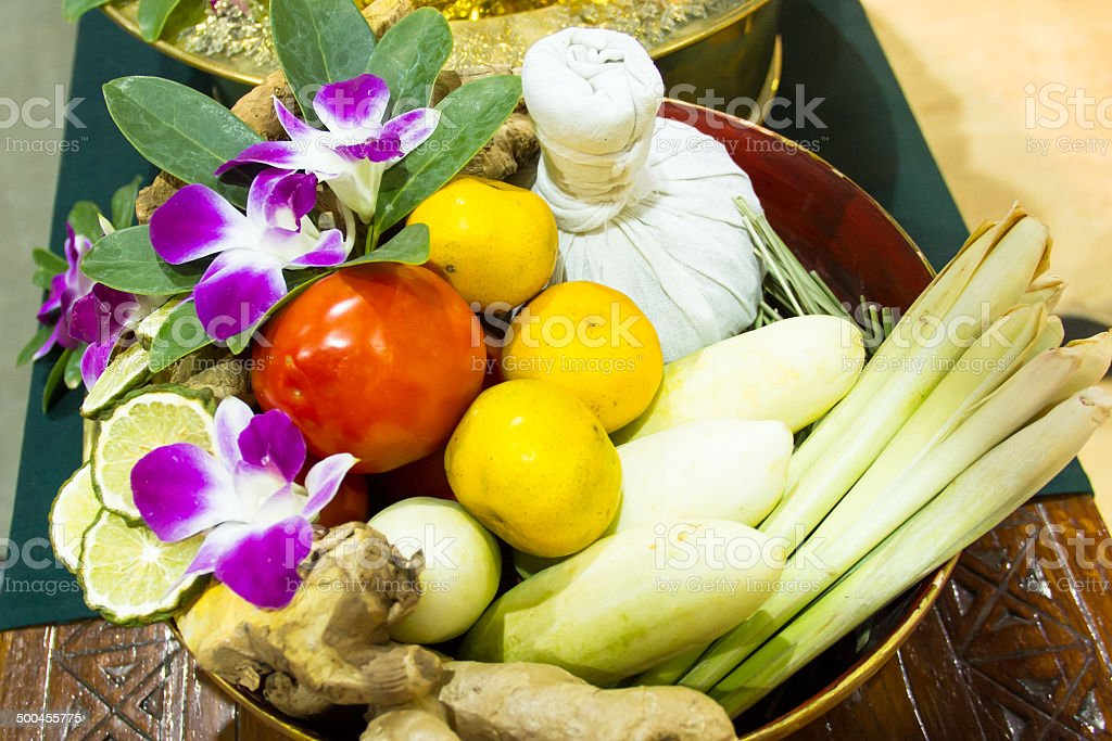 herbal for massage spa treatment Thai style royalty-free stock photo