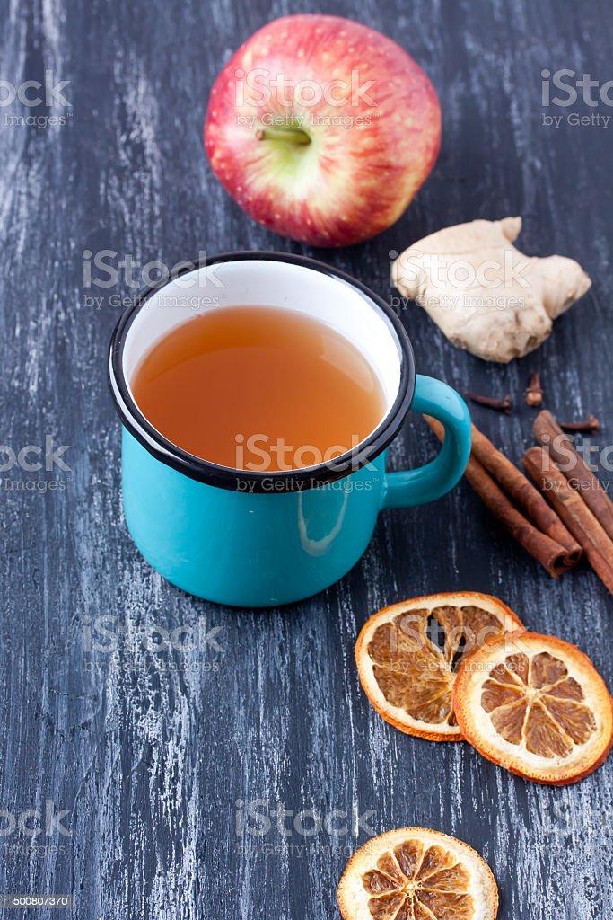 herbal , fruit tea / winter tea stock photo