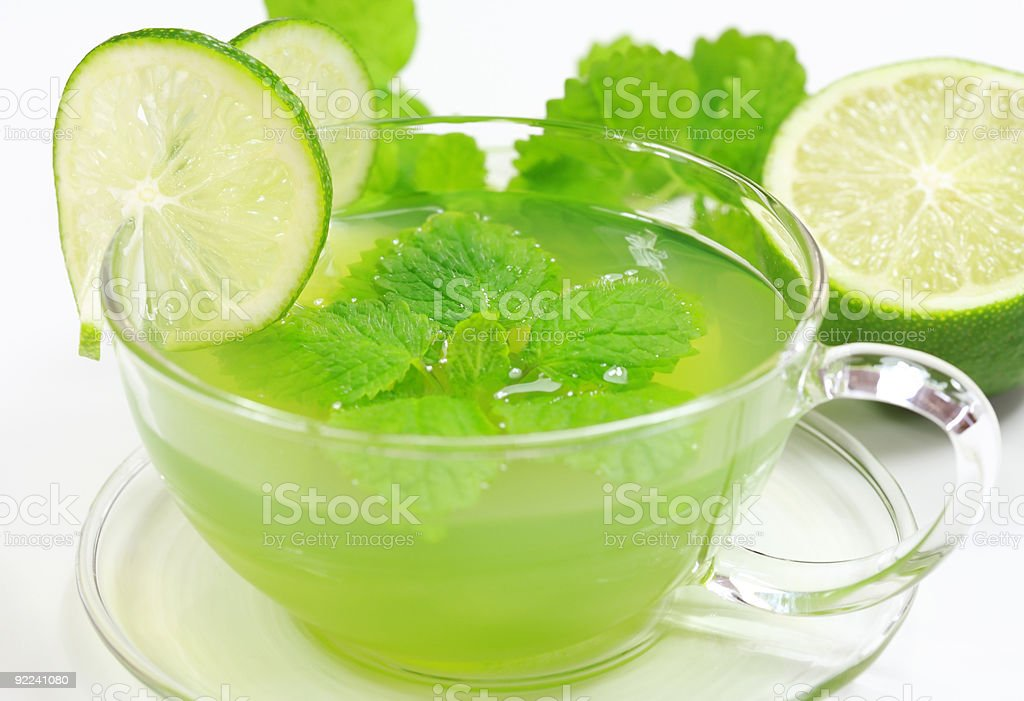 Herbal green tea stock photo
