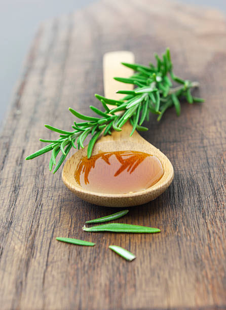 Herbal honey stock photo
