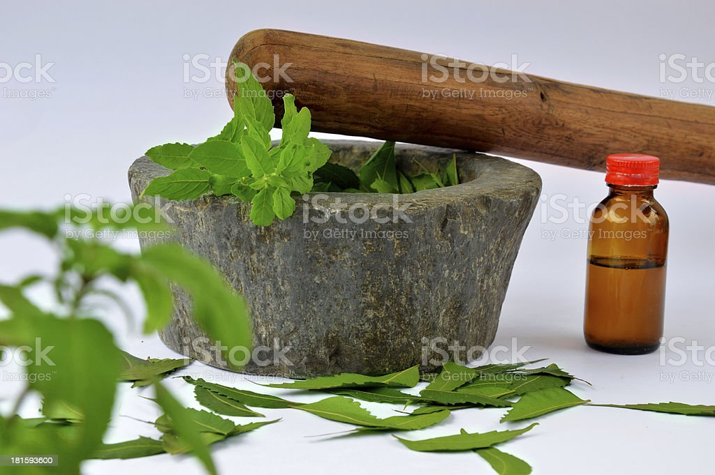 Herbal Medicine Concept stock photo