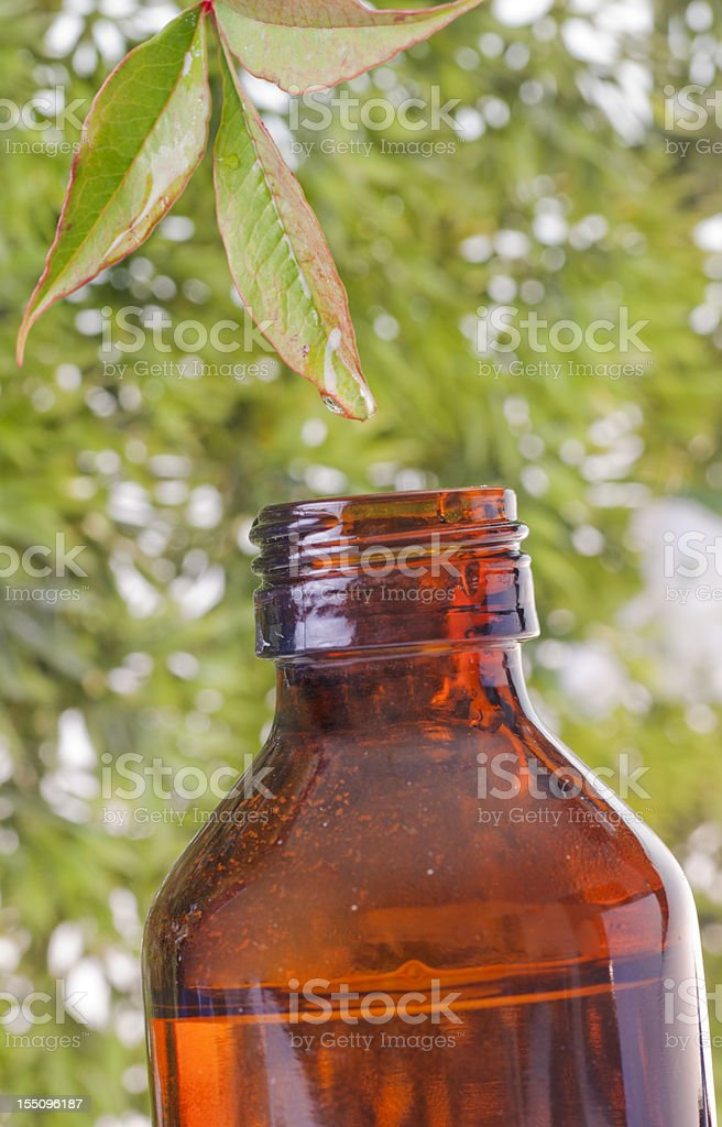 Herbal medicine whit bottle royalty-free stock photo