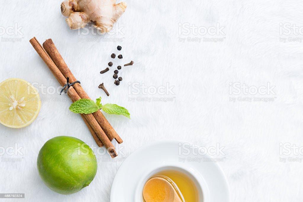 herbal on carpet background. stock photo