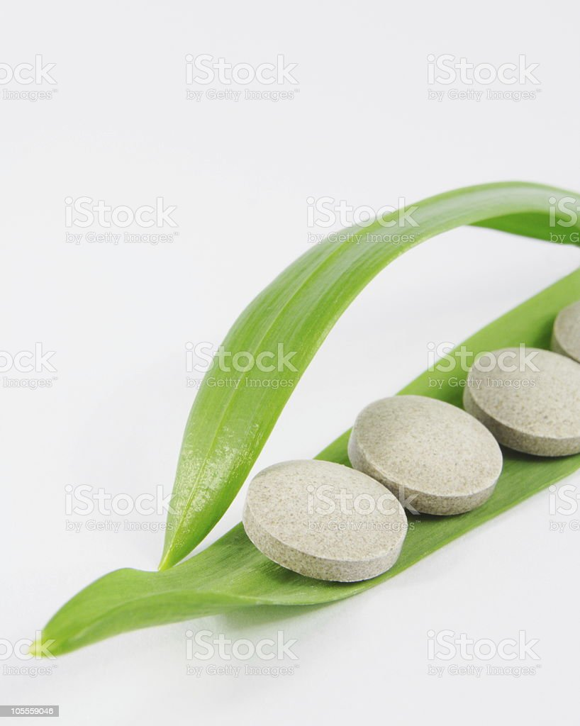 Herbal pills royalty-free stock photo
