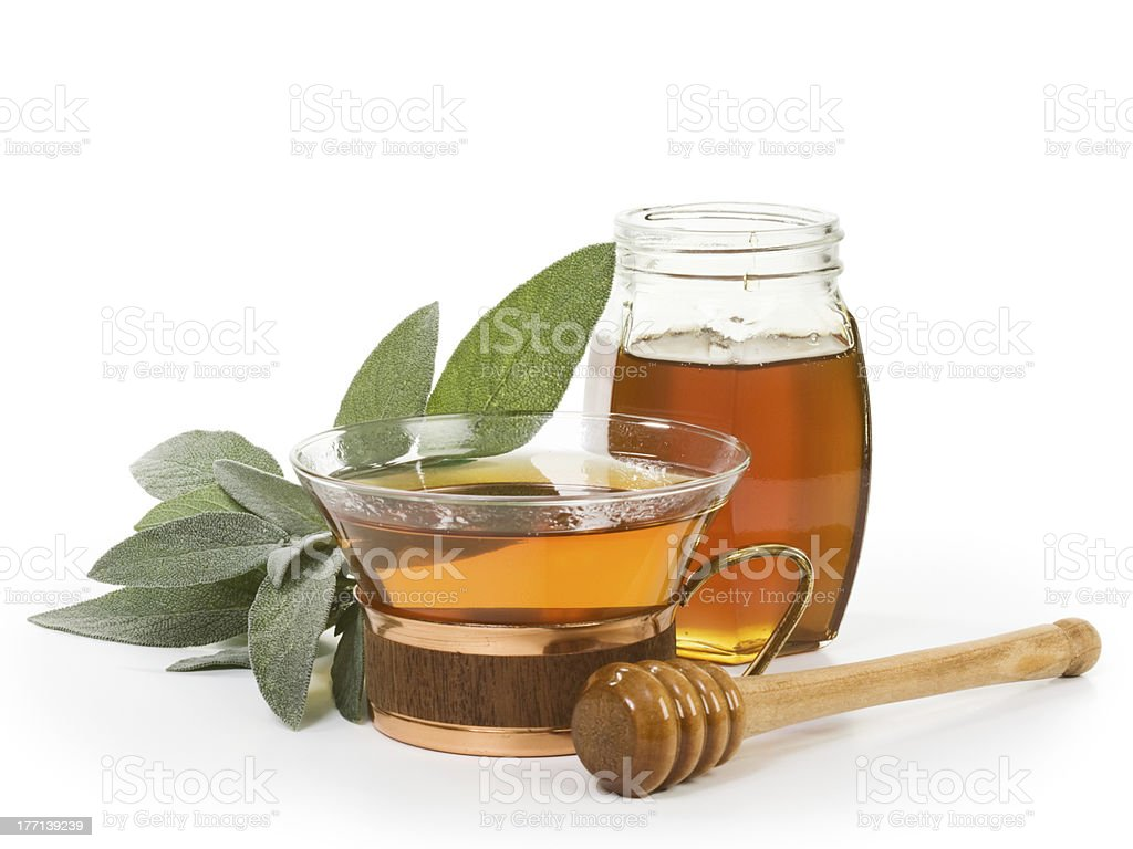 Herbal Sage Tea royalty-free stock photo