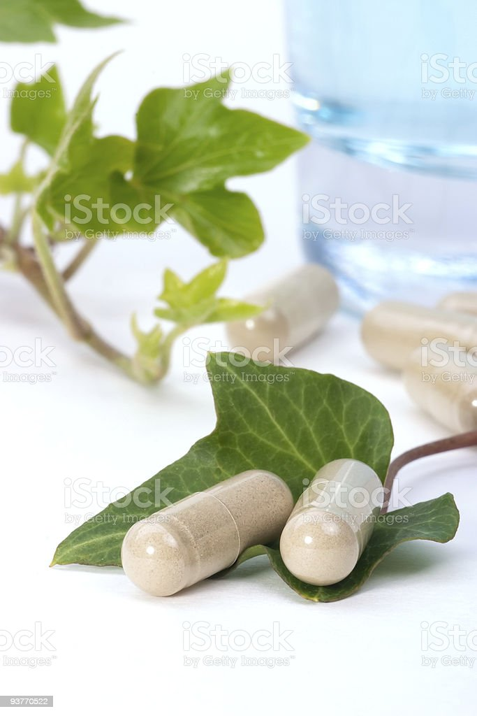 Herbal supplements royalty-free stock photo