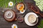 istock Herbal tea and espresso coffee 1262209851