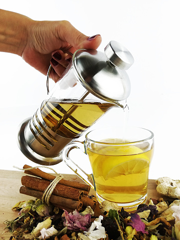 istock Herbal tea and healthy life 1057487146