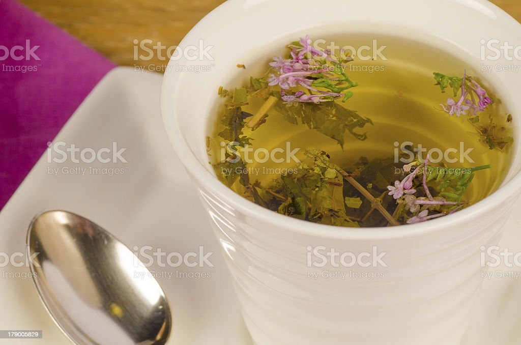 Herbal tea closeup stock photo