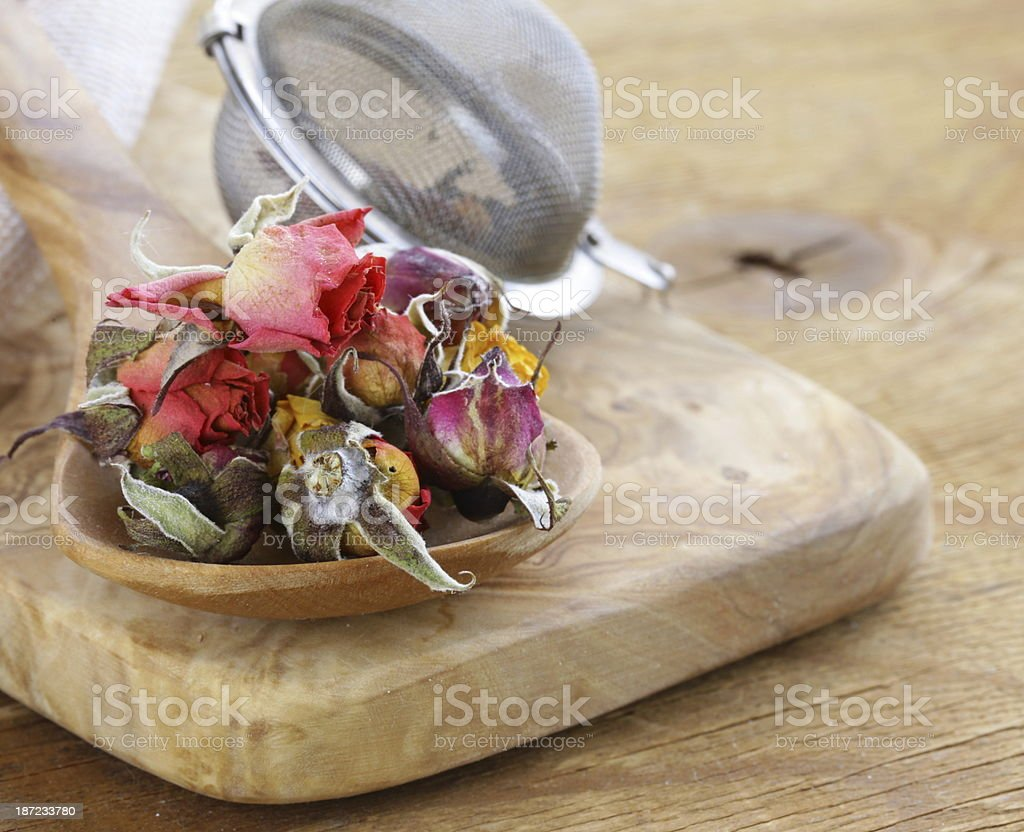 herbal tea from the dried flower royalty-free stock photo