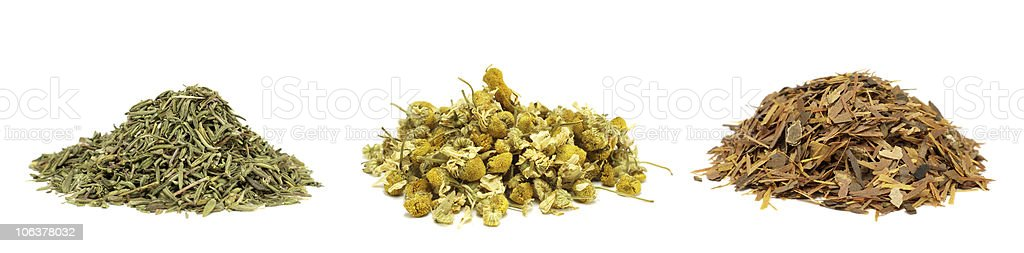 herbal tea isolated on white royalty-free stock photo