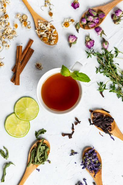 chá erval - chá bebida quente - fotografias e filmes do acervo