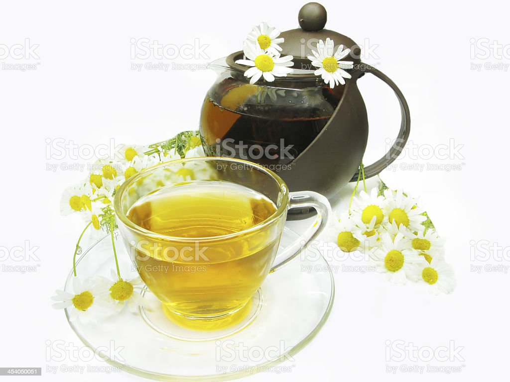Herbal Tea With Daisy Flowers Stock Photo More Pictures Of Drink