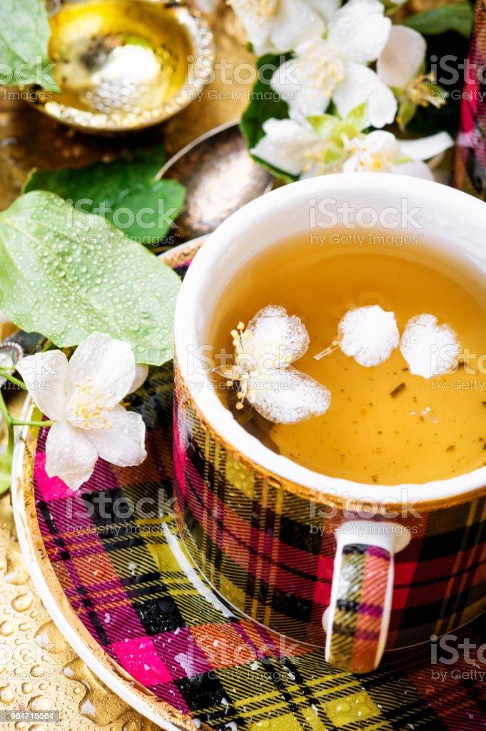 Herbal tea with jasmine royalty-free stock photo