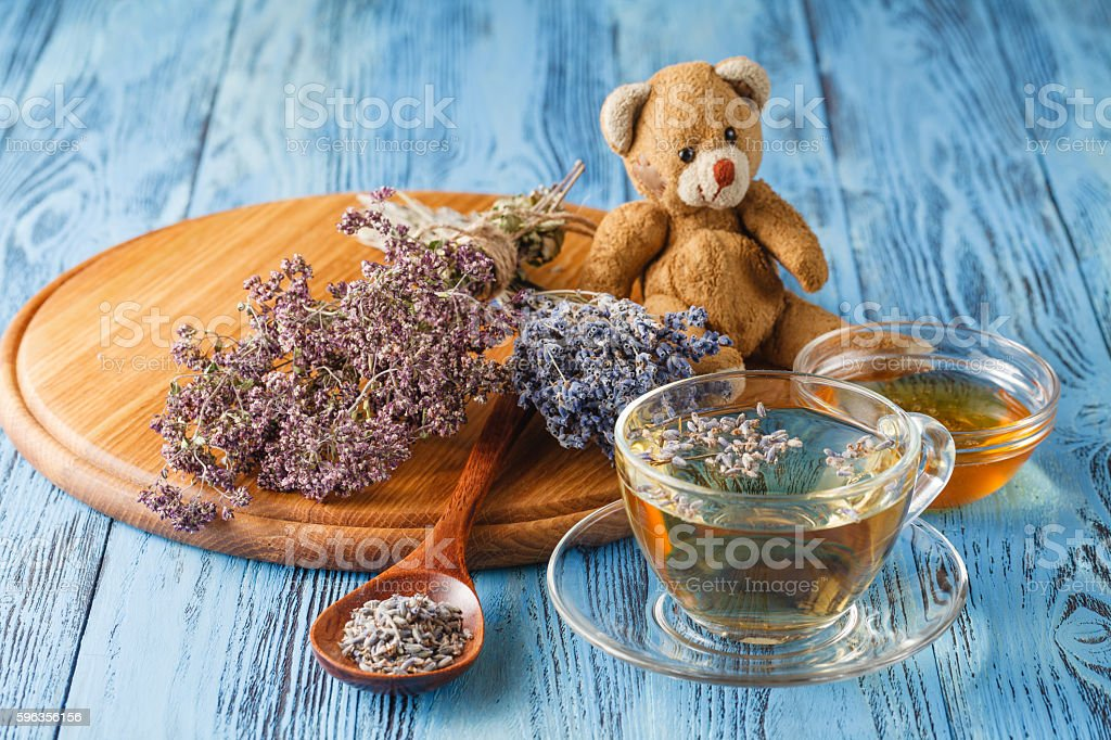 Herbal Tea with Lavender royalty-free stock photo