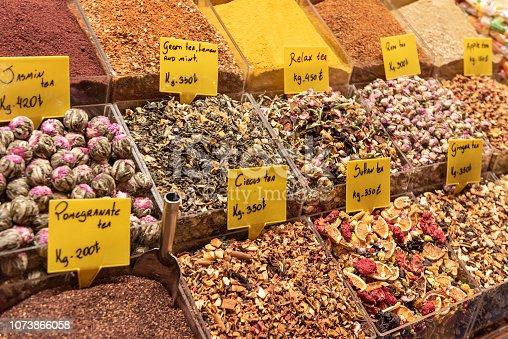 Herbal teas in The Egyptian Bazaar