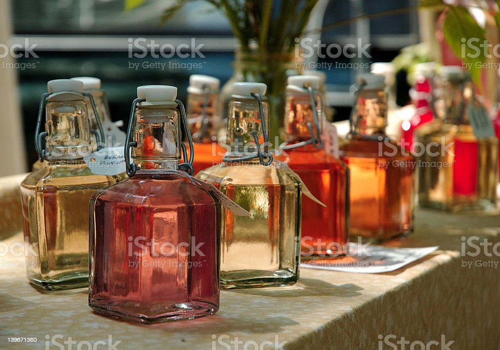 Herbal Vinegar royalty-free stock photo