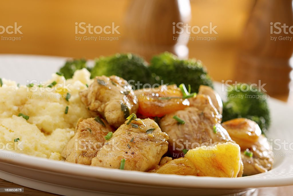 Herbed Apricot Chicken Tenders royalty-free stock photo