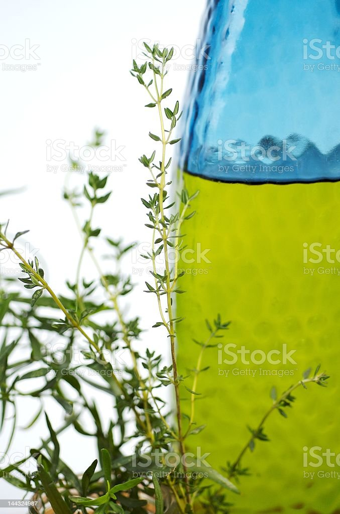 herbs and oil royalty-free stock photo