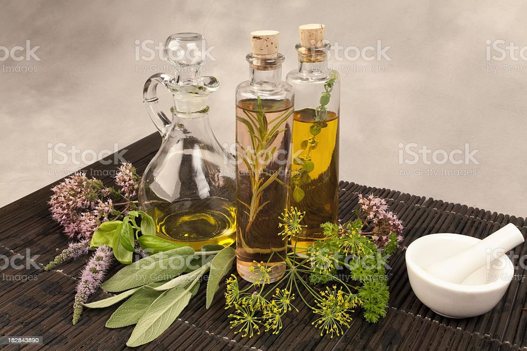 Herbs and Oil Series royalty-free stock photo