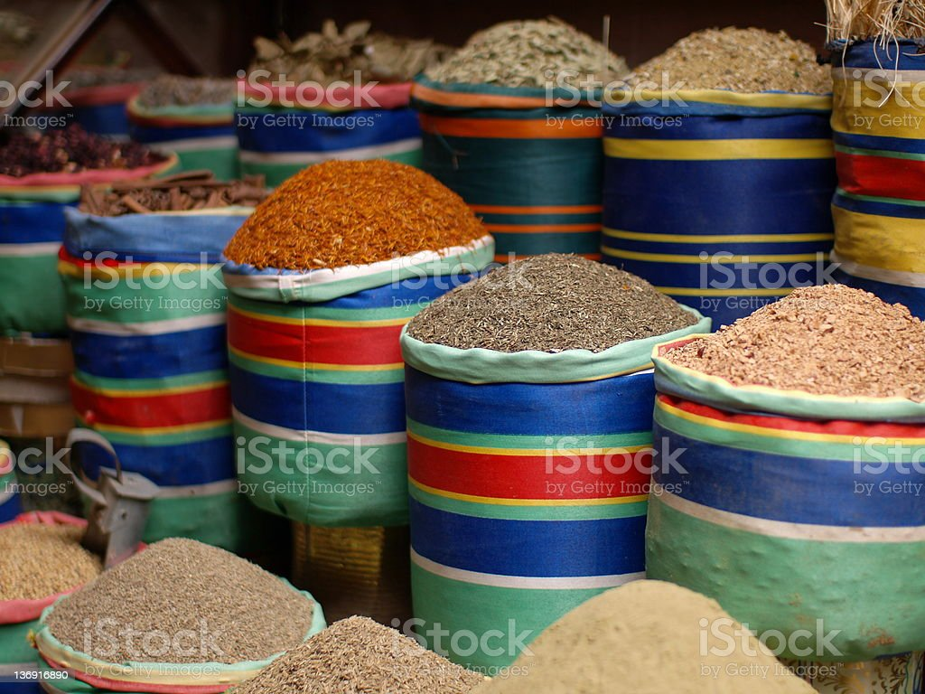 Herbs and Spices in Egypt stock photo