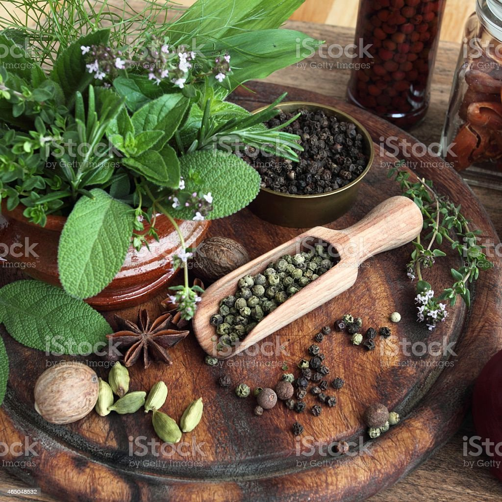 Herbs And Spices Stock Photo - Download Image Now - iStock