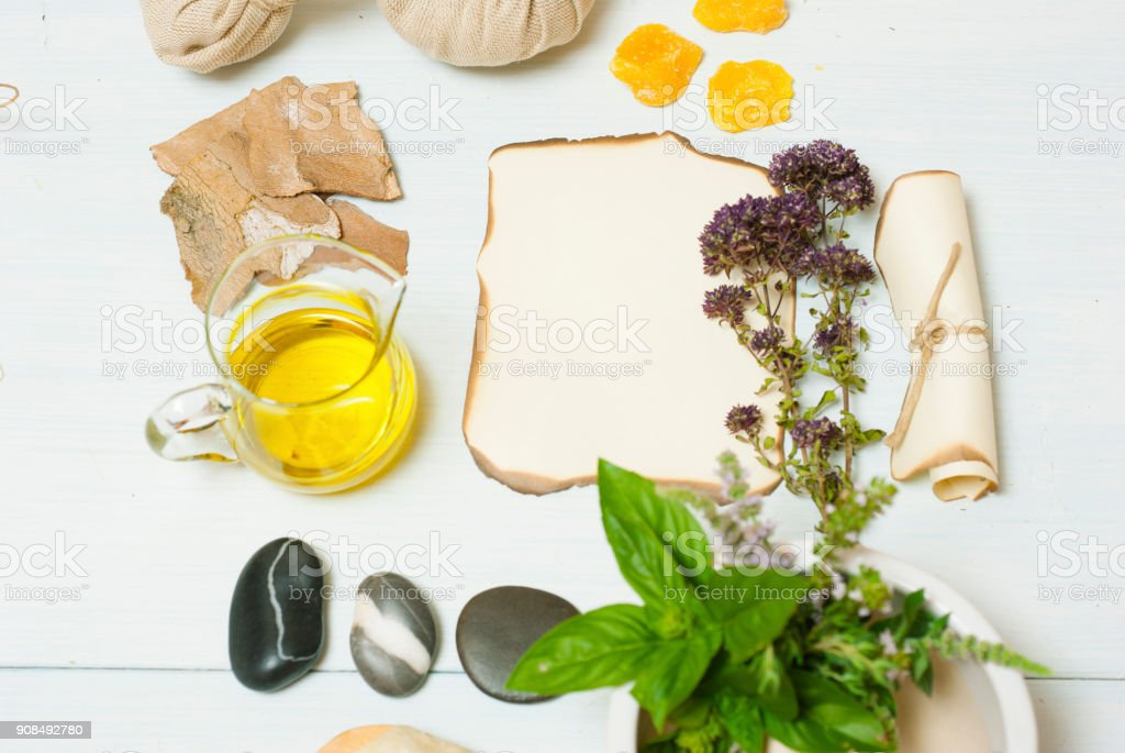 Herbs and spices stock photo