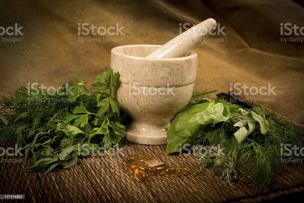 Herbs and Suppliments Series stock photo
