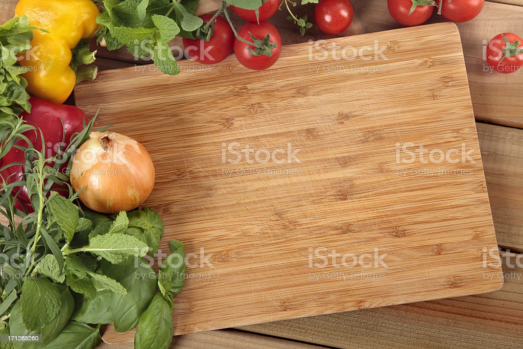 Herbs and vegetables stock photo