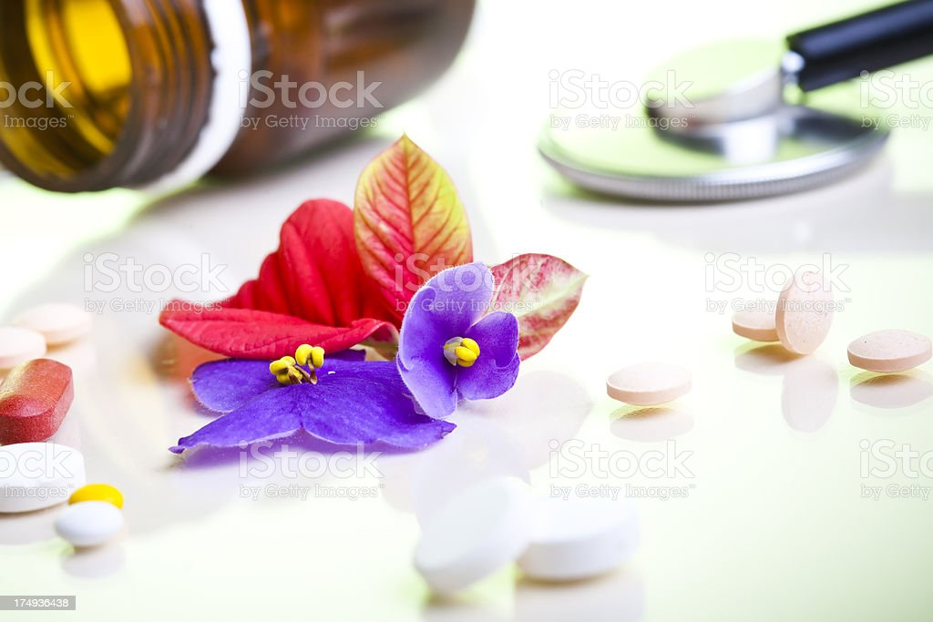 Herbs in alternative medicine royalty-free stock photo