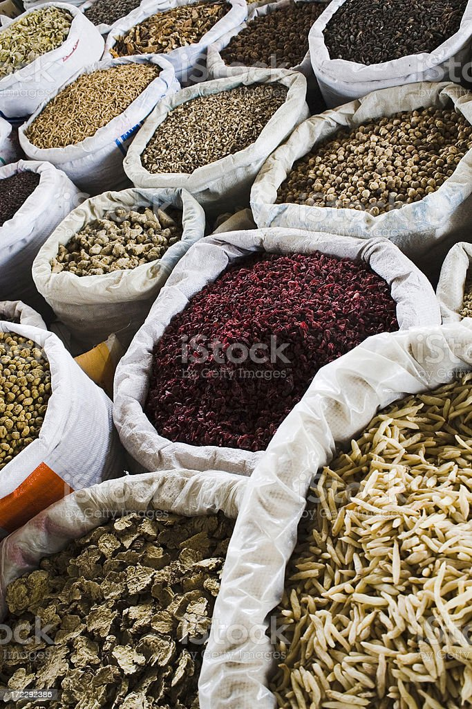 herbs in china stock photo