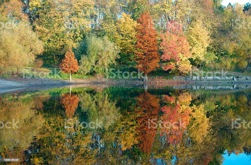 Herbstsee stock photo