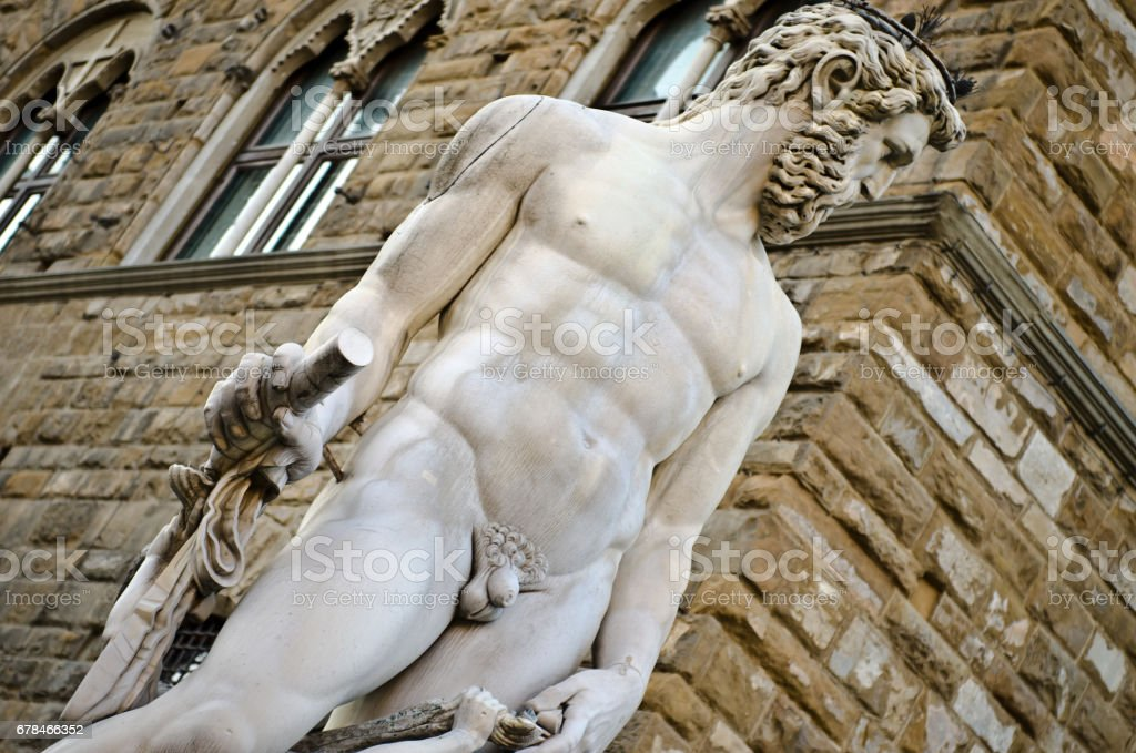 Hercules and Cacus Sculpture in Piazza della Signoria in Florence, Italy. royalty-free stock photo