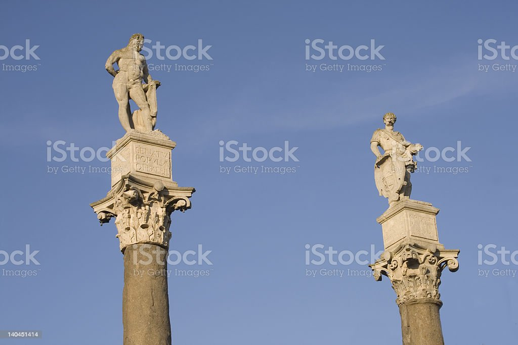 Hercules and Julius Caesar stock photo