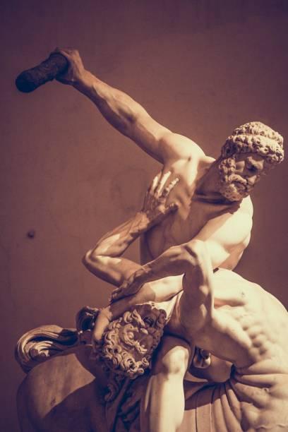 Hercules and the Centaur Nessus, Loggia dei lanzi, Florence stock photo