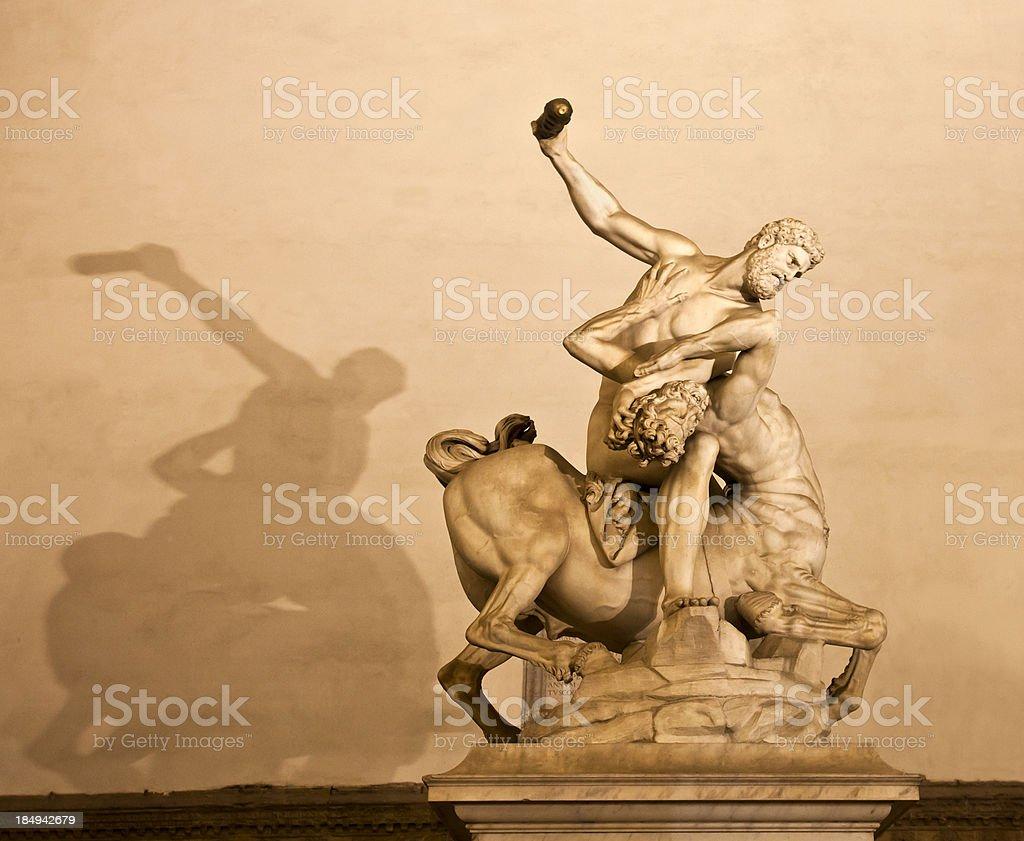 Hercules beating the Centaur Nessus by Giambologna stock photo