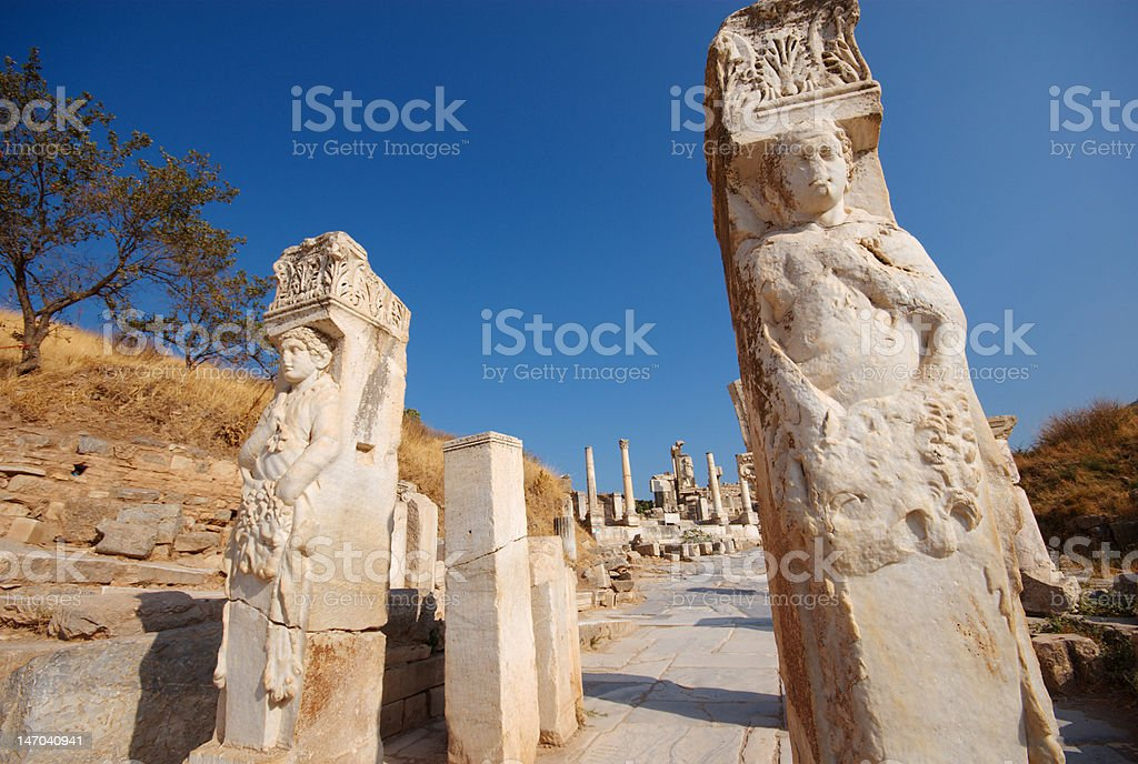 Hercules Gate, Ephesus stock photo