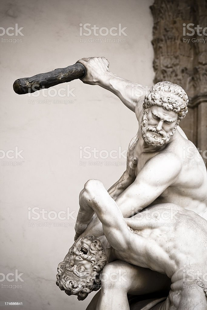 Hercules Killing the Centaur stock photo