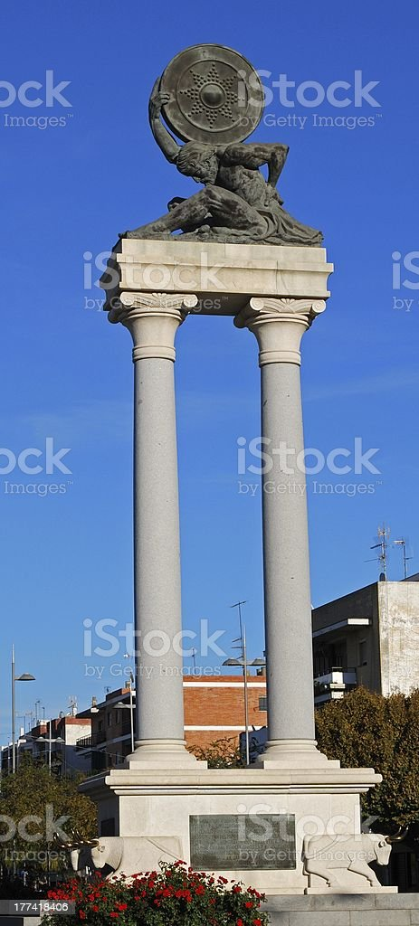 Hercules Monument, Ecija, Spain. royalty-free stock photo