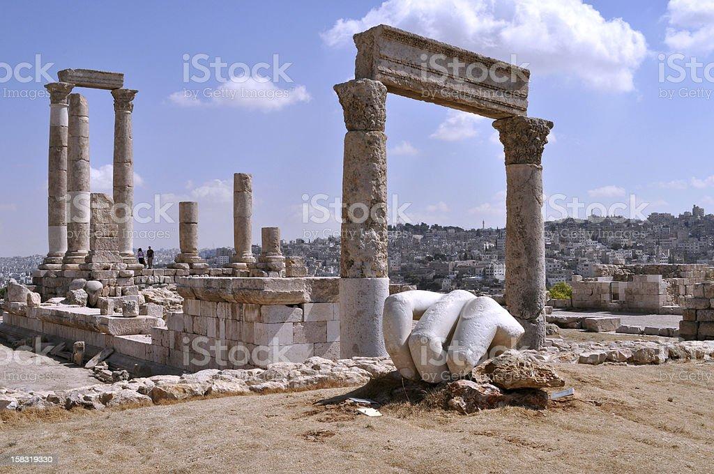 Hercules temple,Jordan royalty-free stock photo