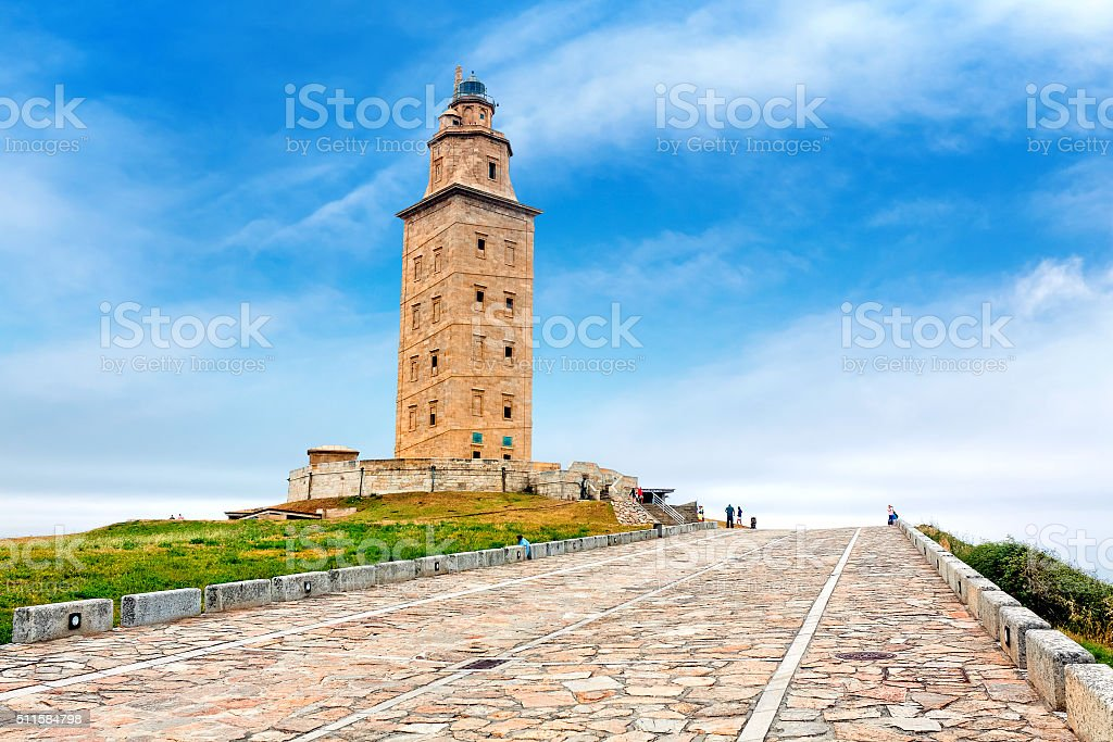 Hercules tower, A Coruna, Galicia, Spain stock photo