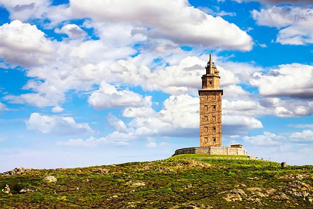 Hercules tower, La coruña, Galicia, España, La humanidad de La UNESCO - foto de stock