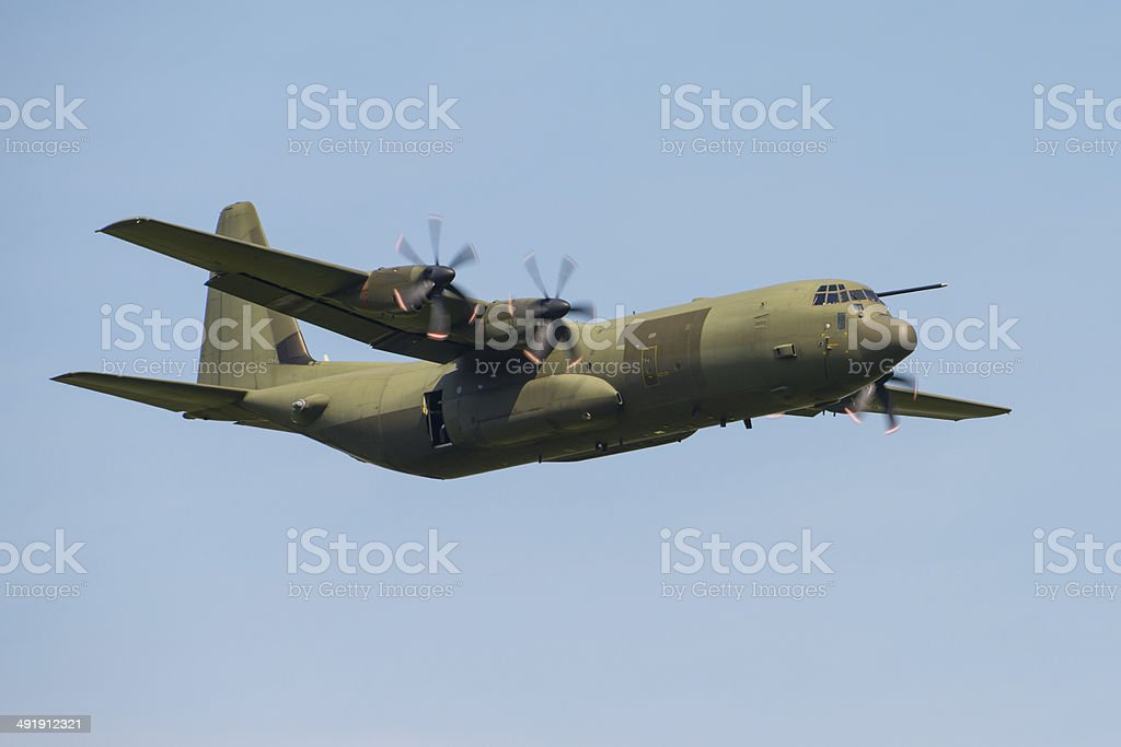 C130 Hercules transport aircraft stock photo