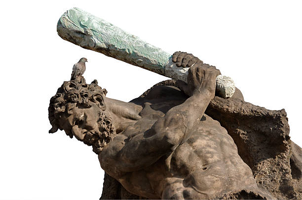 Hercules with bird on the head stock photo