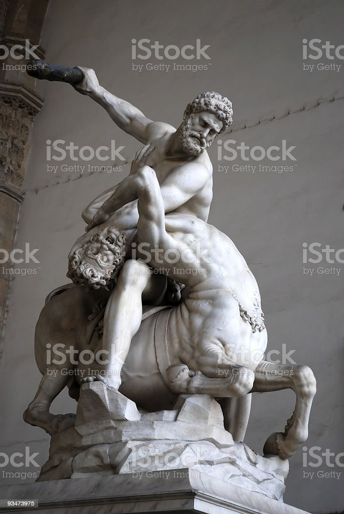 Hercules with the centaur Nessus, Gianbologna royalty-free stock photo